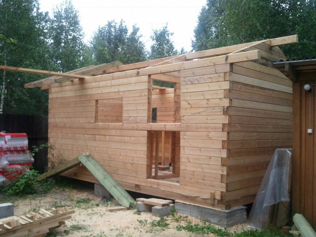 Как построить баню своими руками из бруса 3х4